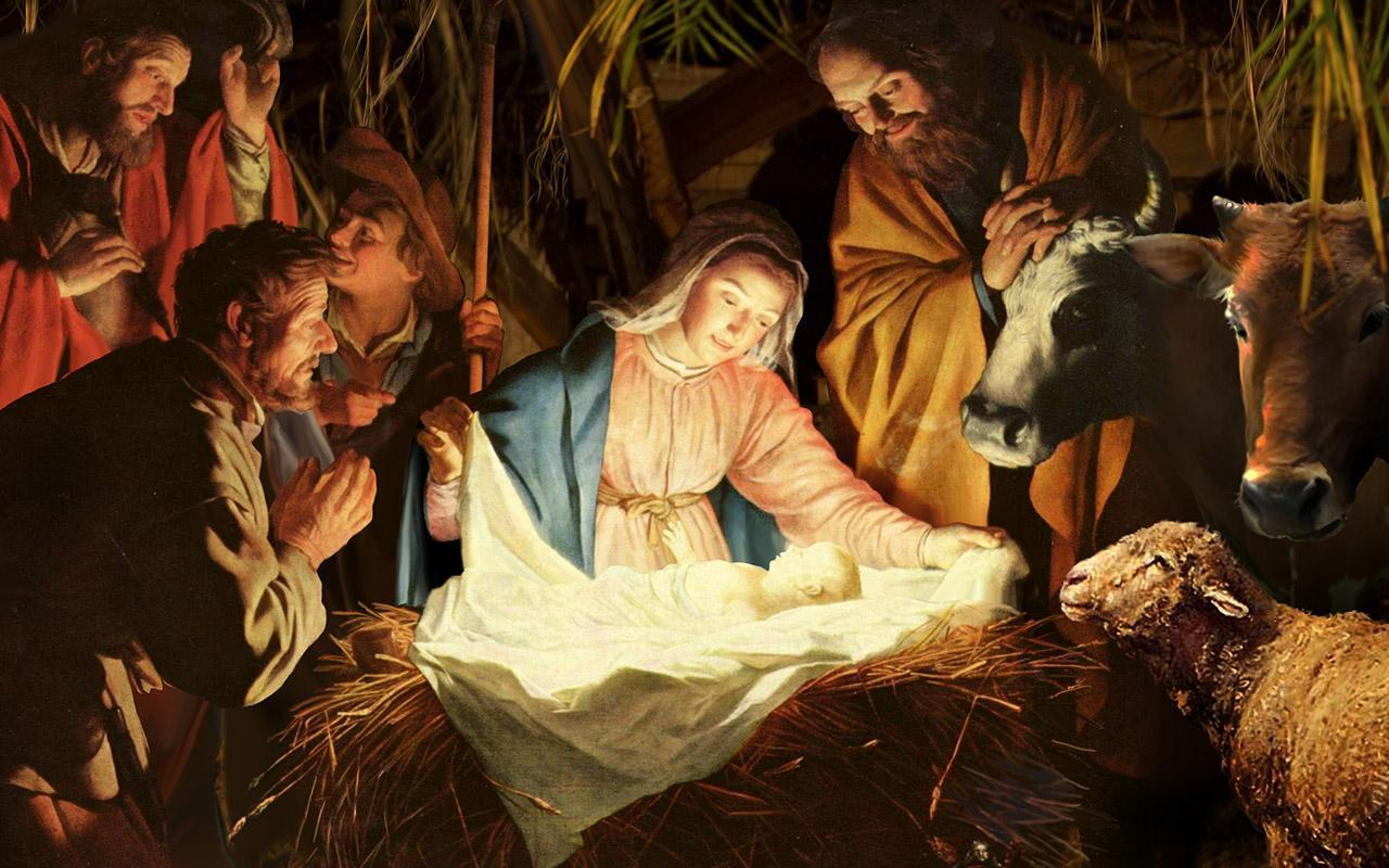 Иисус родился в хлеву картинка