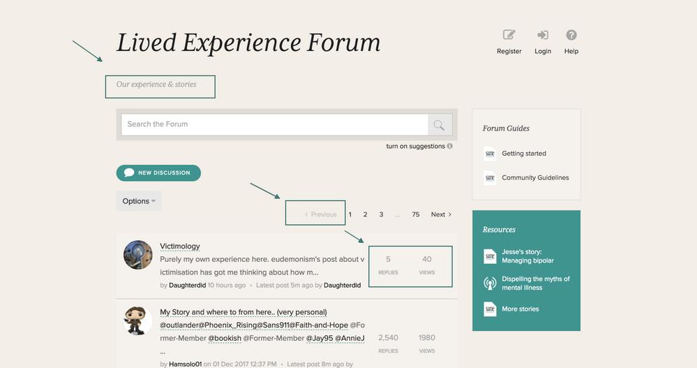 SANE Forums_Colour contrast improvements_discussion page example.png
