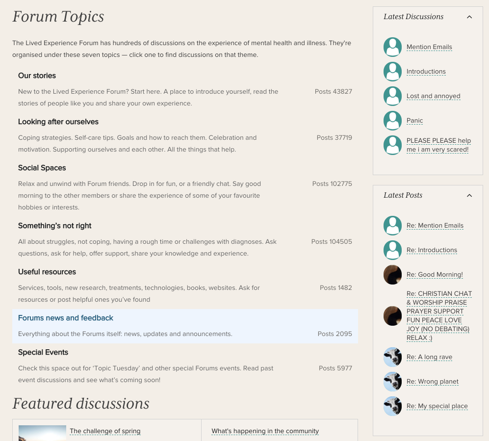 Latest discussions and posts on RHS on topics page.png